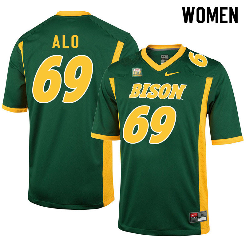 Women #69 Quinn Alo North Dakota State Bison College Football Jerseys Sale-Green
