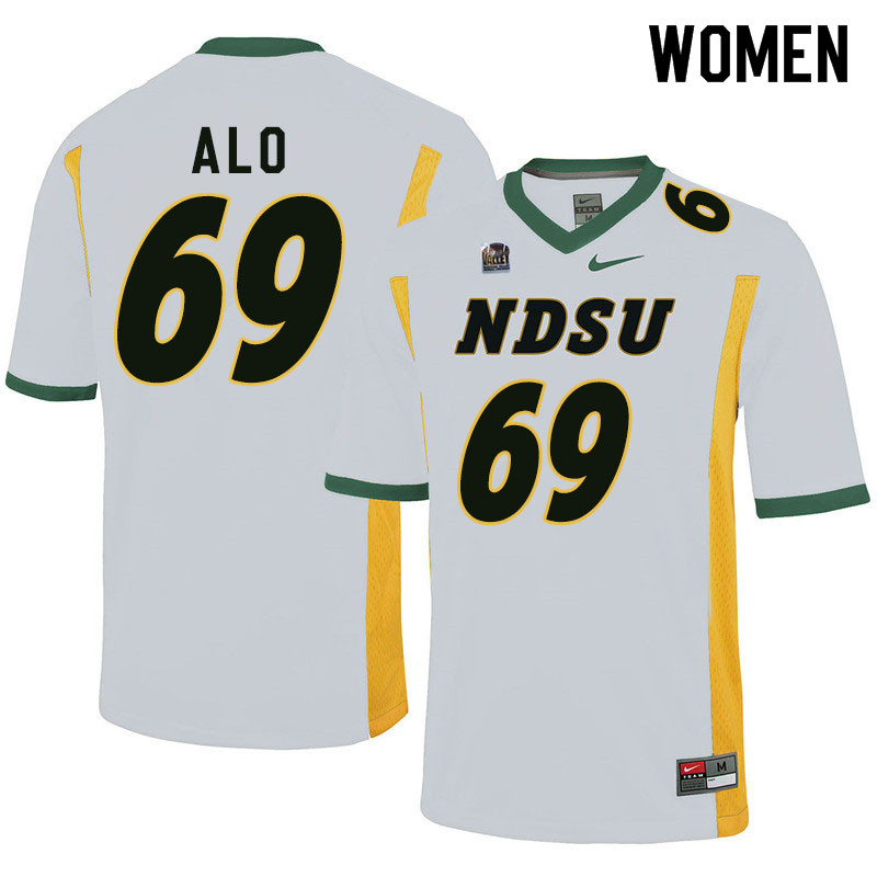 Women #69 Quinn Alo North Dakota State Bison College Football Jerseys Sale-White