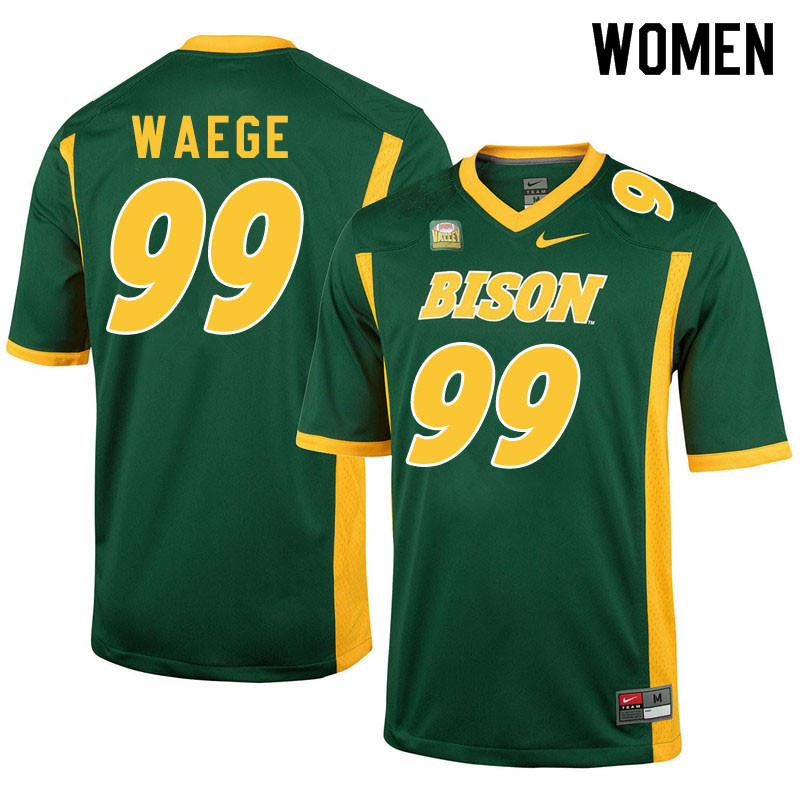 Women #99 Spencer Waege North Dakota State Bison College Football Jerseys Sale-Green