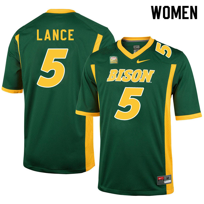 Women #5 Trey Lance North Dakota State Bison College Football Jerseys Sale-Green