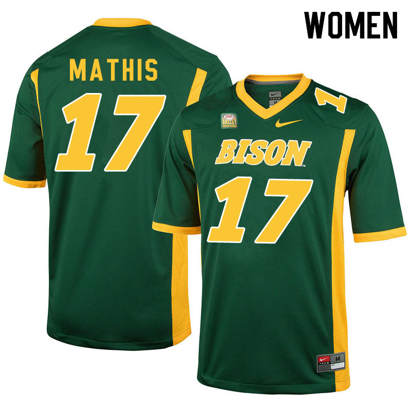 Women #17 Zach Mathis North Dakota State Bison College Football Jerseys Sale-Green