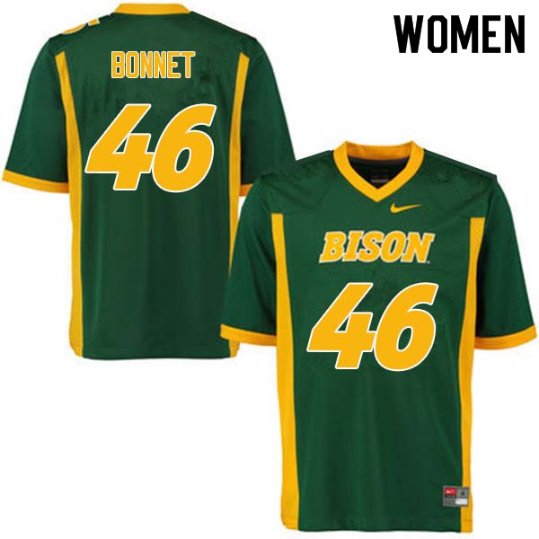 Women #46 Andrew Bonnet North Dakota State Bison College Football Jerseys Sale-Green