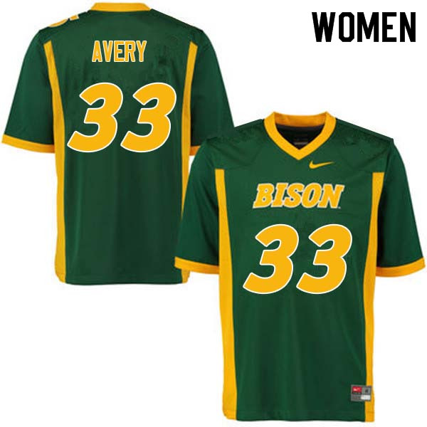 Women #33 Austin Avery North Dakota State Bison College Football Jerseys Sale-Green