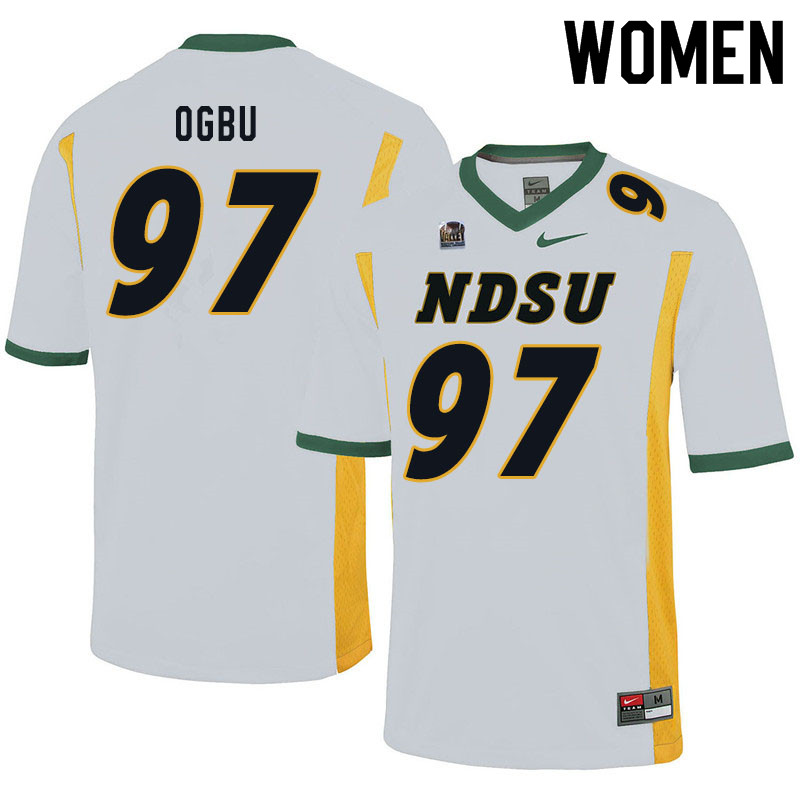 Women #97 Bartholomew Ogbu North Dakota State Bison College Football Jerseys Sale-White
