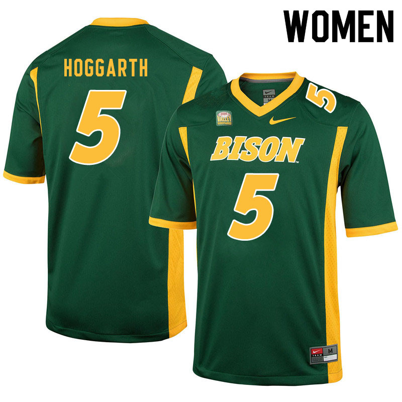 Women #5 Ben Hoggarth North Dakota State Bison College Football Jerseys Sale-Green