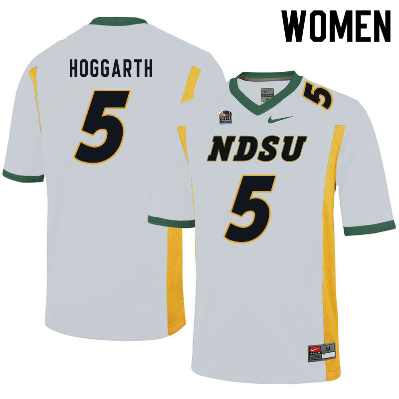 Women #5 Ben Hoggarth North Dakota State Bison College Football Jerseys Sale-White