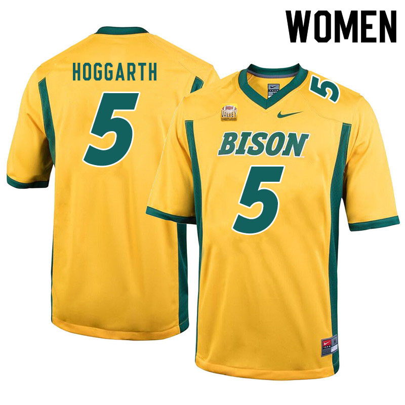Women #5 Ben Hoggarth North Dakota State Bison College Football Jerseys Sale-Yellow