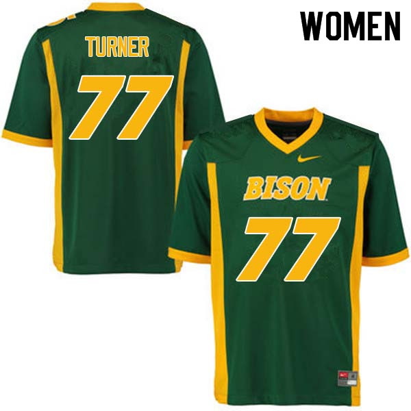 Women #77 Billy Turner North Dakota State Bison College Football Jerseys Sale-Green