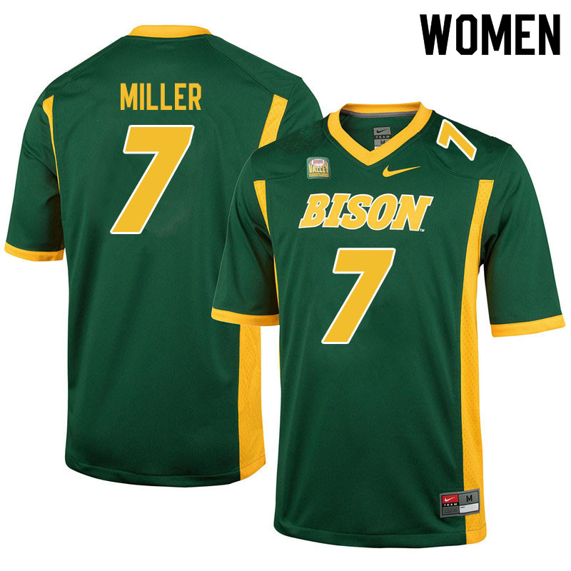 Women #7 Cam Miller North Dakota State Bison College Football Jerseys Sale-Green