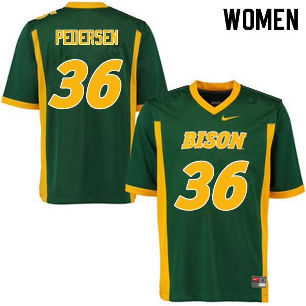 Women #36 Cam Pedersen North Dakota State Bison College Football Jerseys Sale-Green