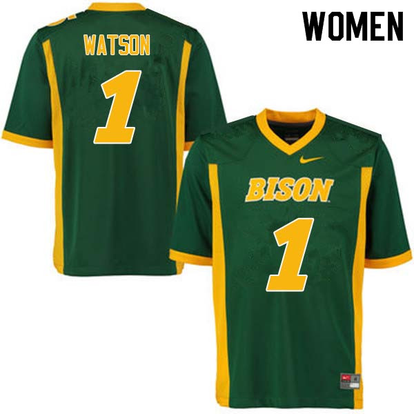 Women #1 Christian Watson North Dakota State Bison College Football Jerseys Sale-Green