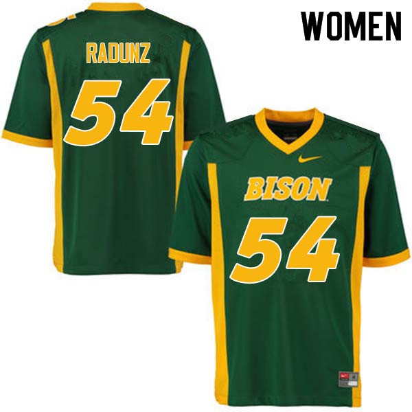 Women #54 Dillon Radunz North Dakota State Bison College Football Jerseys Sale-Green