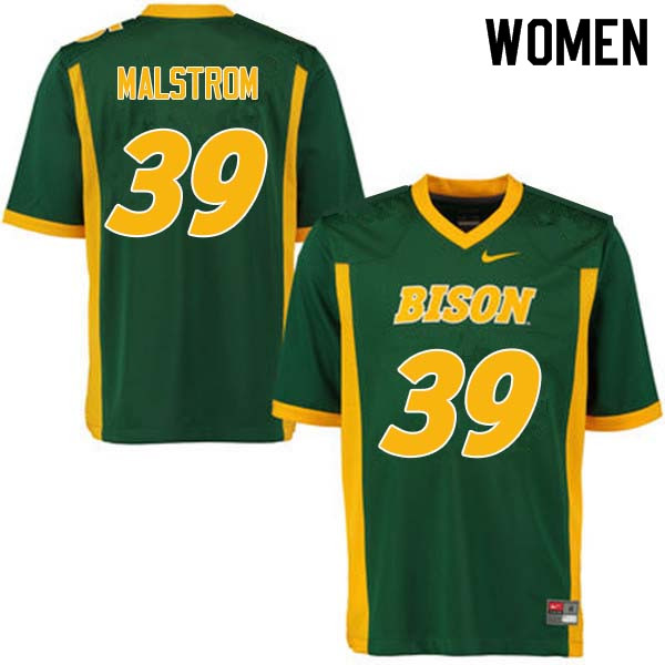 Women #39 Garrett Malstrom North Dakota State Bison College Football Jerseys Sale-Green