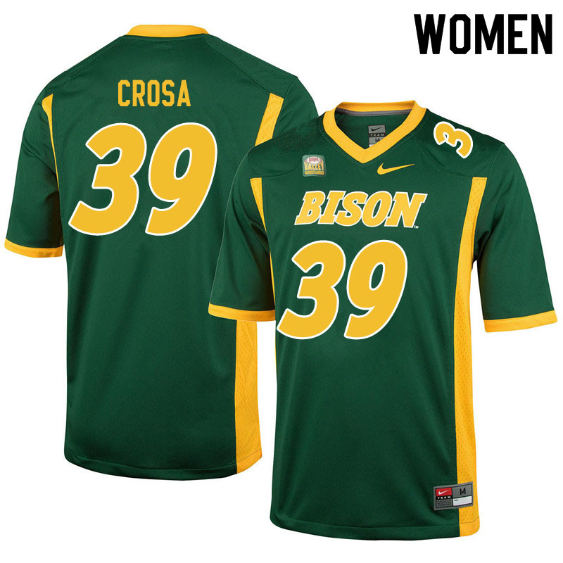Women #39 Griffin Crosa North Dakota State Bison College Football Jerseys Sale-Green