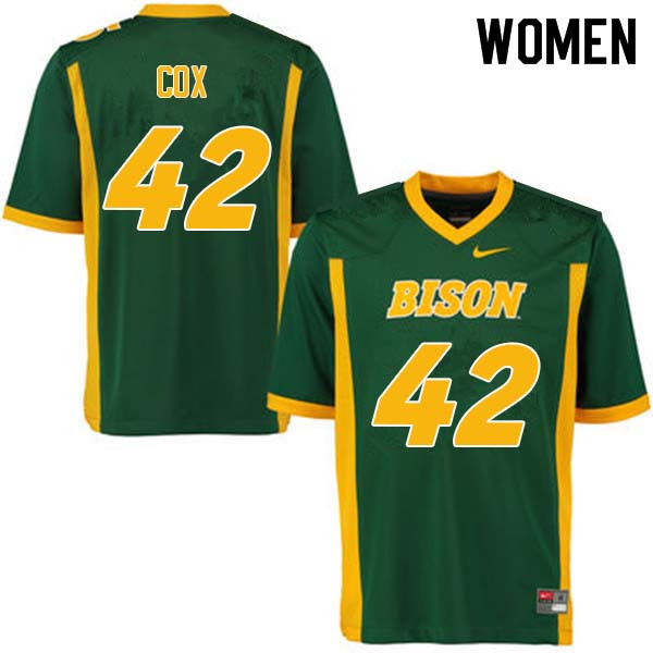 Women #42 Jabril Cox North Dakota State Bison College Football Jerseys Sale-Green