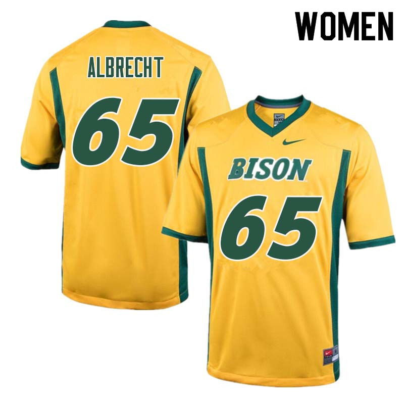 Women #65 Jack Albrecht North Dakota State Bison College Football Jerseys Sale-Yellow
