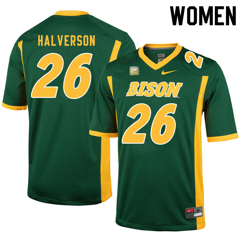 Women #26 Jacob Halverson North Dakota State Bison College Football Jerseys Sale-Green