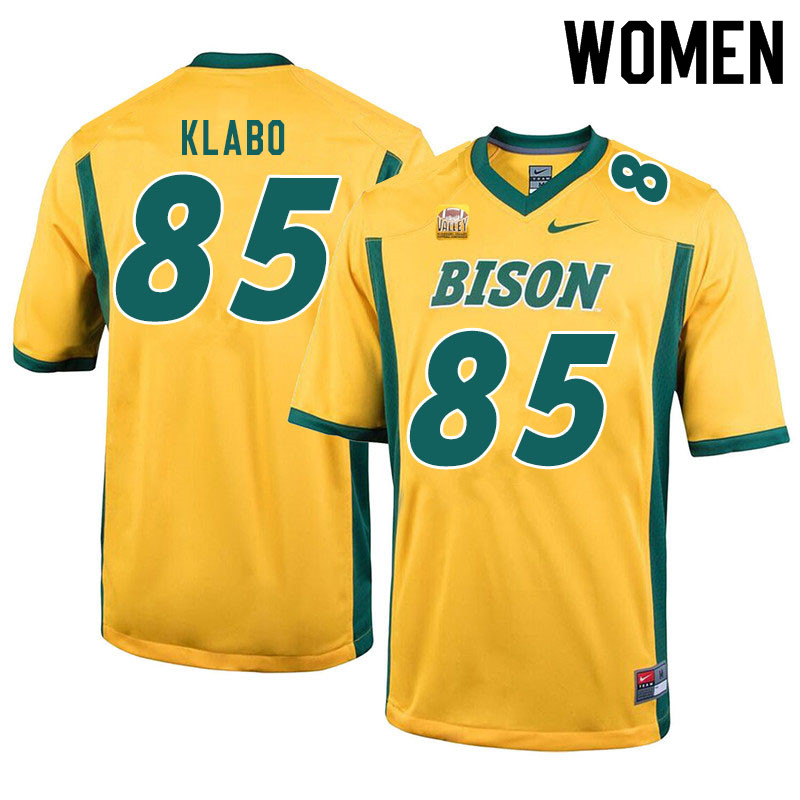 Women #85 Jaden Klabo North Dakota State Bison College Football Jerseys Sale-Yellow