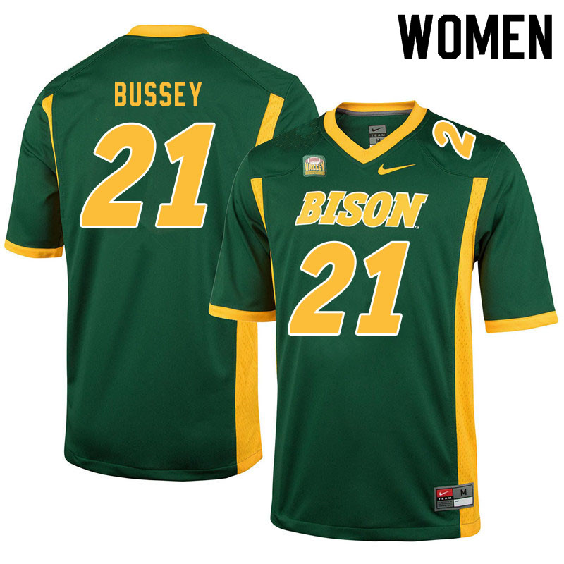 Women #21 Jalen Bussey North Dakota State Bison College Football Jerseys Sale-Green