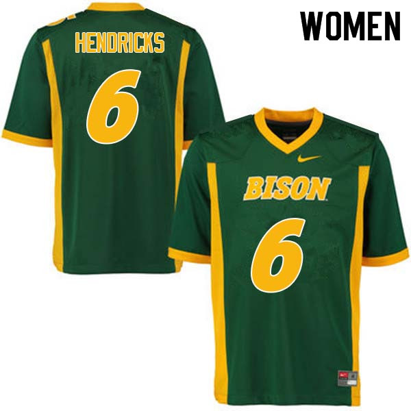 Women #6 James Hendricks North Dakota State Bison College Football Jerseys Sale-Green
