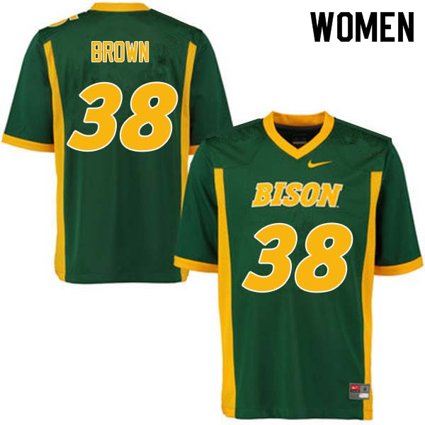 Women #38 Jaxon Brown North Dakota State Bison College Football Jerseys Sale-Green