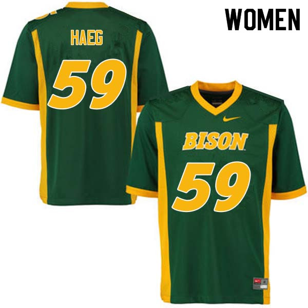 Women #59 Joe Haeg North Dakota State Bison College Football Jerseys Sale-Green