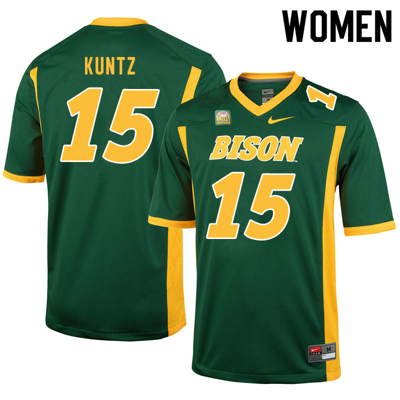 Women #15 Kaden Kuntz North Dakota State Bison College Football Jerseys Sale-Green