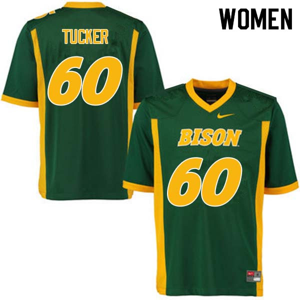 Women #60 Lane Tucker North Dakota State Bison College Football Jerseys Sale-Green