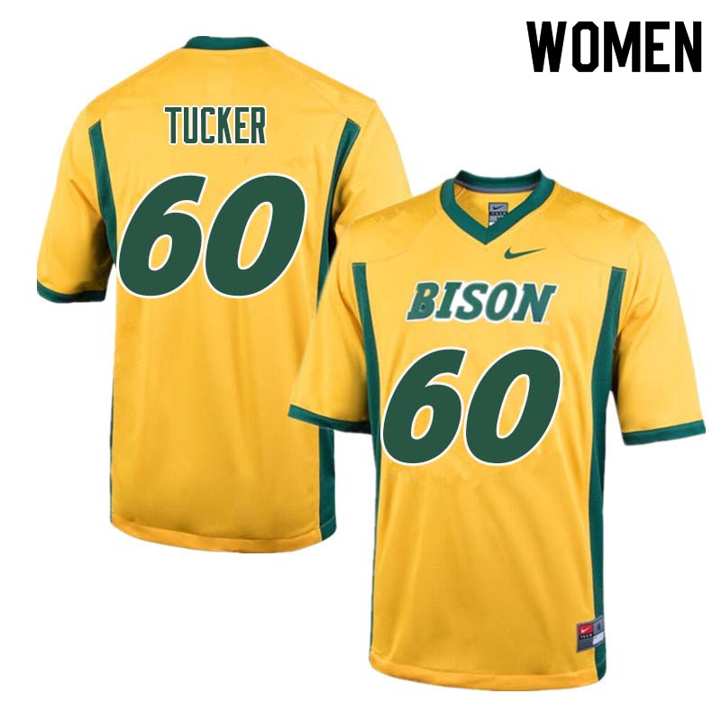 Women #60 Lane Tucker North Dakota State Bison College Football Jerseys Sale-Yellow