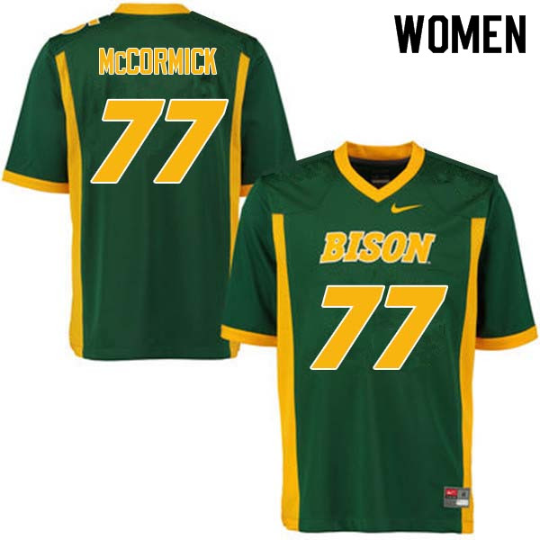 Women #77 Logan McCormick North Dakota State Bison College Football Jerseys Sale-Green
