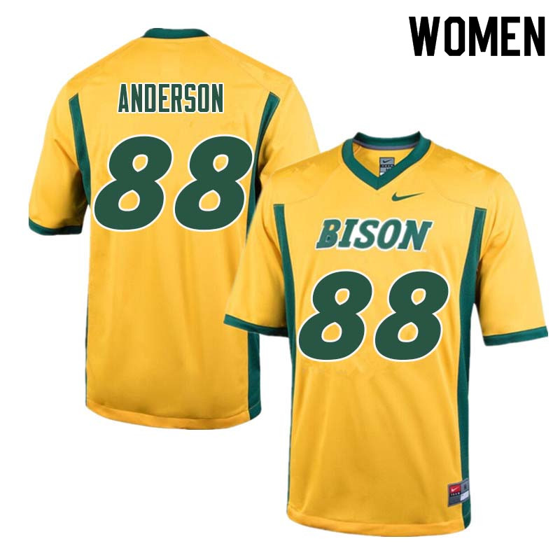 Women #88 Matt Anderson North Dakota State Bison College Football Jerseys Sale-Yellow