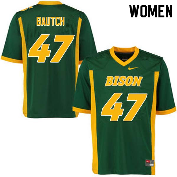 Women #47 Max Bautch North Dakota State Bison College Football Jerseys Sale-Green