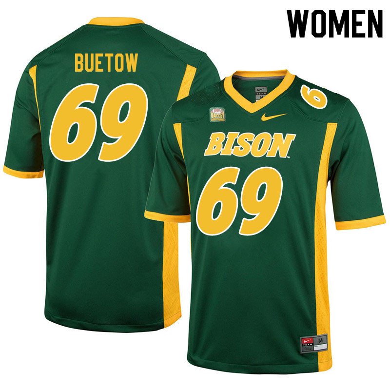 Women #69 Michael Buetow North Dakota State Bison College Football Jerseys Sale-Green
