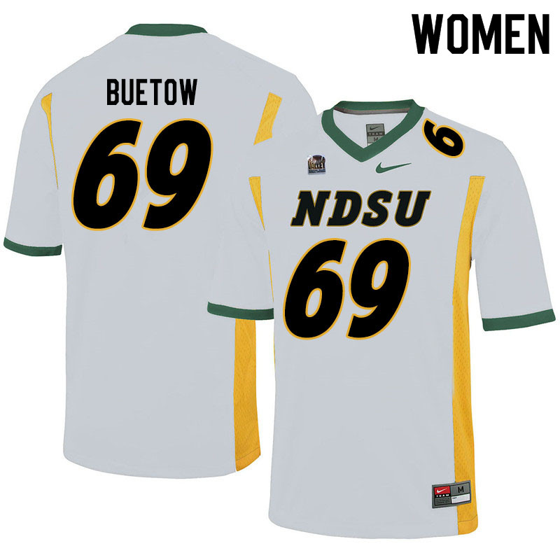 Women #69 Michael Buetow North Dakota State Bison College Football Jerseys Sale-White