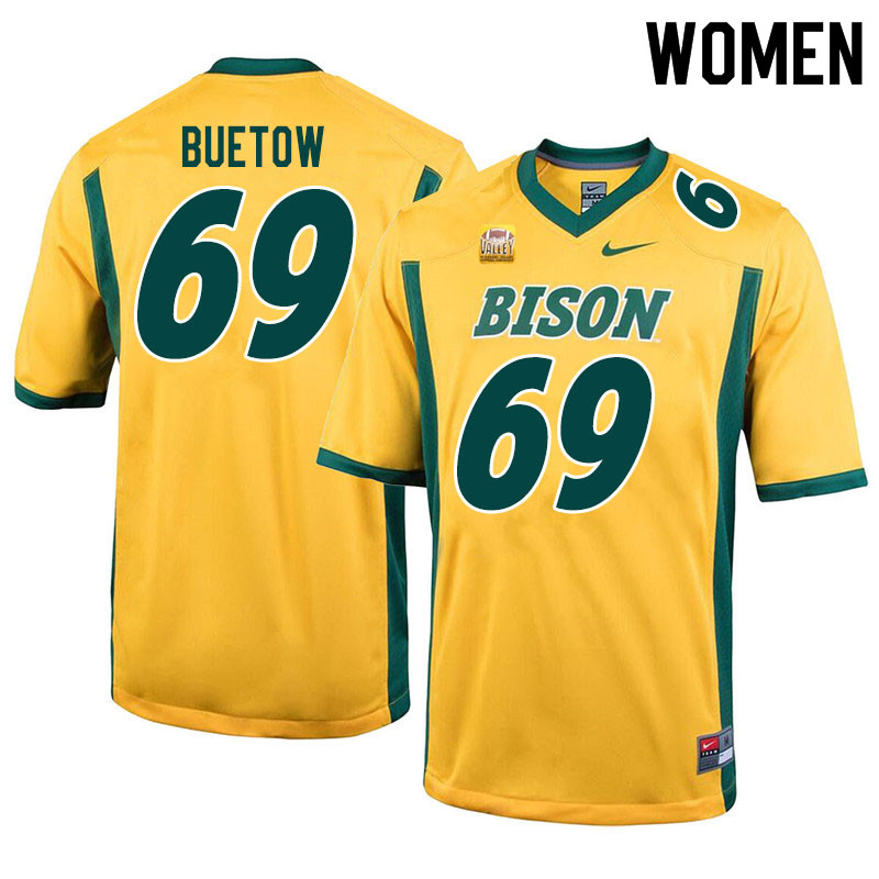 Women #69 Michael Buetow North Dakota State Bison College Football Jerseys Sale-Yellow
