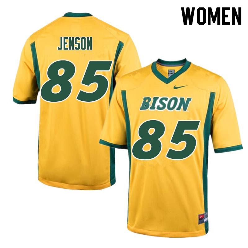 Women #85 Nate Jenson North Dakota State Bison College Football Jerseys Sale-Yellow