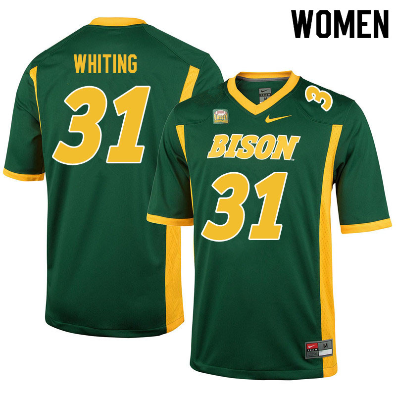 Women #31 Nathan Whiting North Dakota State Bison College Football Jerseys Sale-Green