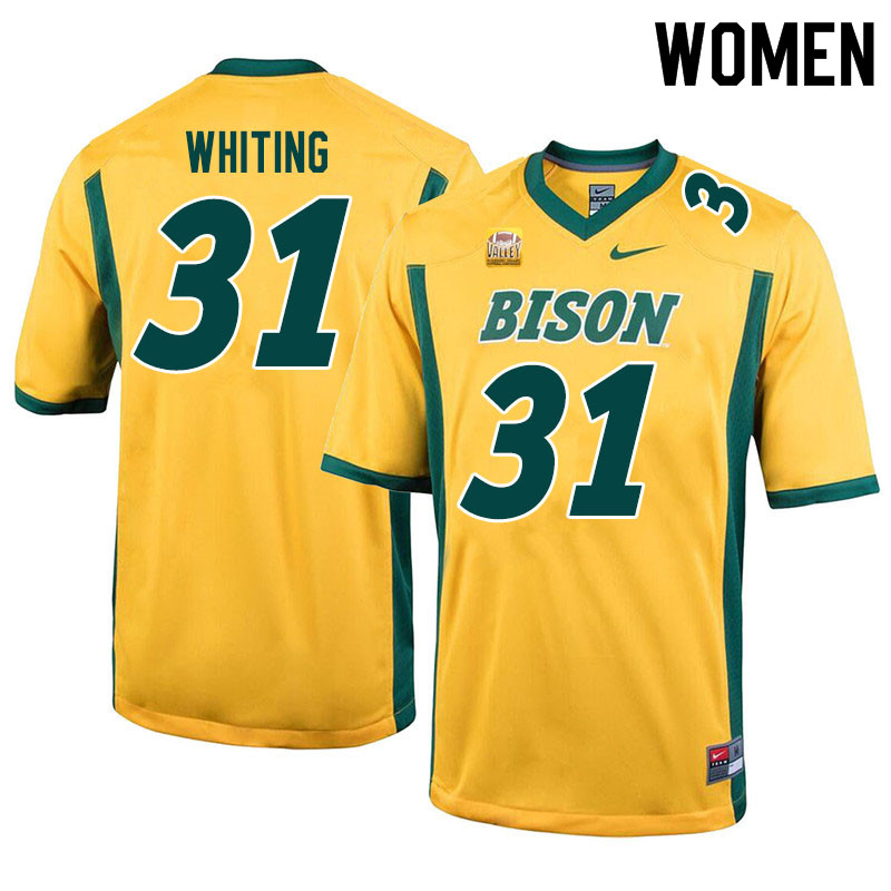 Women #31 Nathan Whiting North Dakota State Bison College Football Jerseys Sale-Yellow