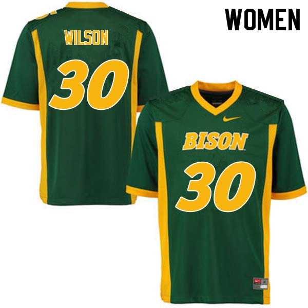 Women #30 Seth Wilson North Dakota State Bison College Football Jerseys Sale-Green