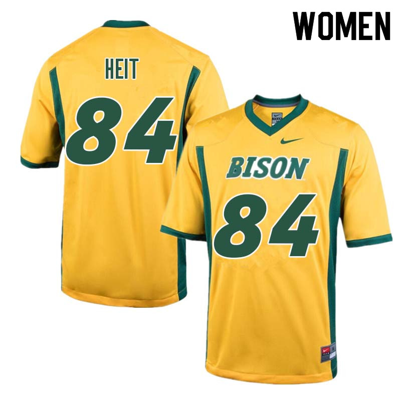 Women #84 Trevor Heit North Dakota State Bison College Football Jerseys Sale-Yellow