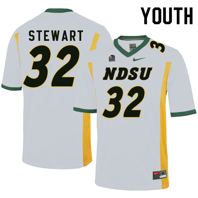 Youth #32 DJ Stewart North Dakota State Bison College Football Jerseys Sale-White