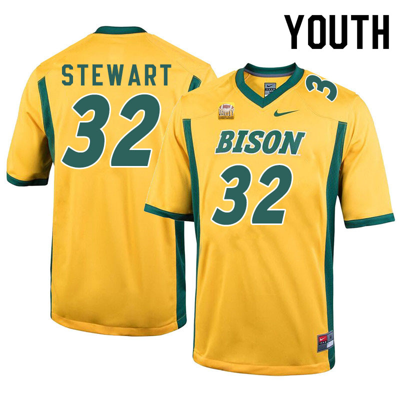 Youth #32 DJ Stewart North Dakota State Bison College Football Jerseys Sale-Yellow