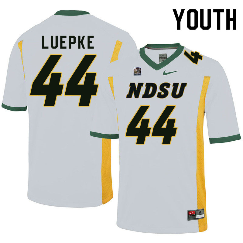 Youth #44 Hunter Luepke North Dakota State Bison College Football Jerseys Sale-White