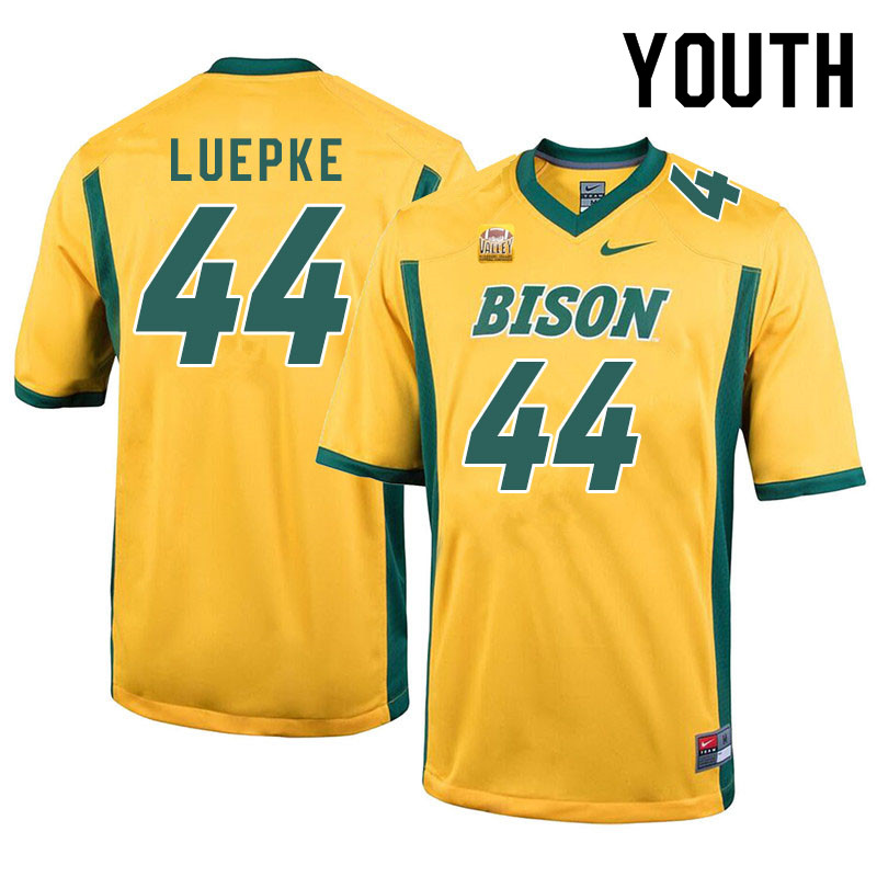 Youth #44 Hunter Luepke North Dakota State Bison College Football Jerseys Sale-Yellow