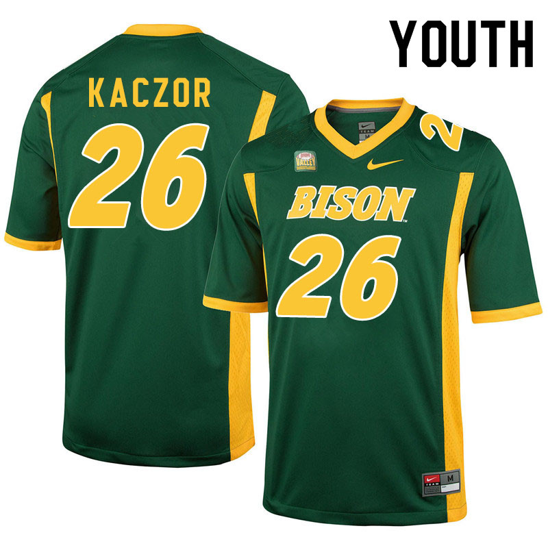 Youth #26 James Kaczor North Dakota State Bison College Football Jerseys Sale-Green