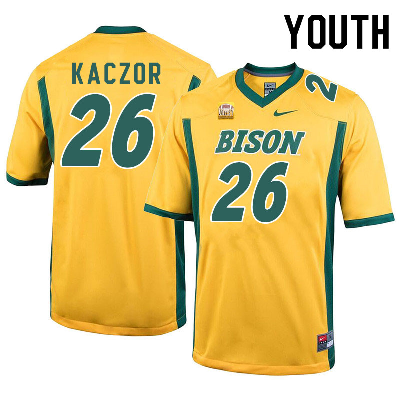Youth #26 James Kaczor North Dakota State Bison College Football Jerseys Sale-Yellow