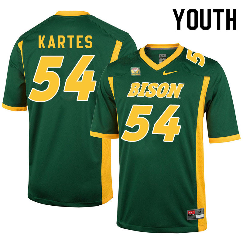 Youth #54 Mitchell Kartes North Dakota State Bison College Football Jerseys Sale-Green