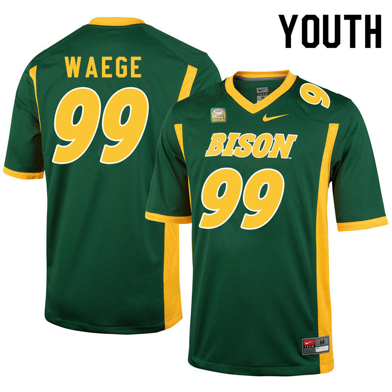 Youth #99 Spencer Waege North Dakota State Bison College Football Jerseys Sale-Green