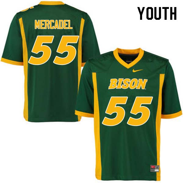 Youth #55 Aaron Mercadel North Dakota State Bison College Football Jerseys Sale-Green