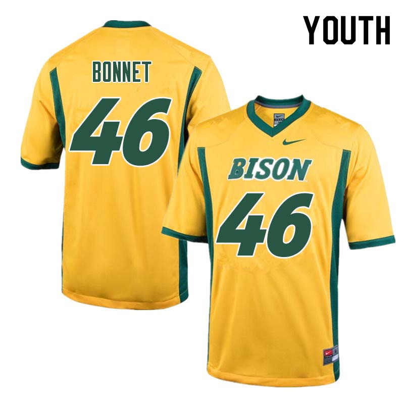 Youth #46 Andrew Bonnet North Dakota State Bison College Football Jerseys Sale-Yellow
